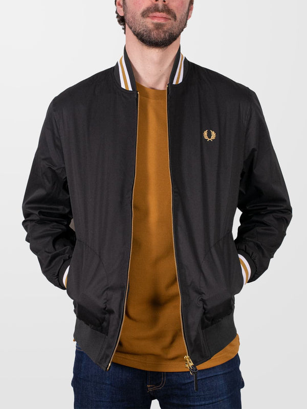 FRED PERRY Black Tennis Bomber Jacket