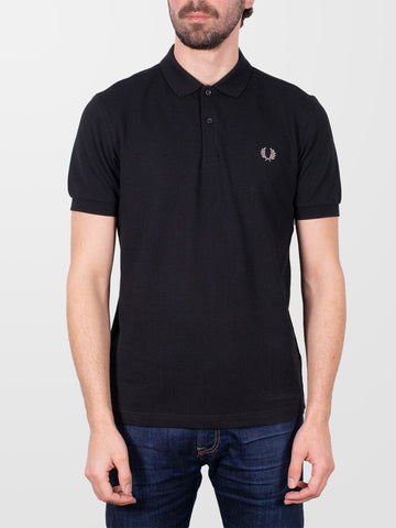 FRED PERRY Black & Chrome Plain SS Shirt