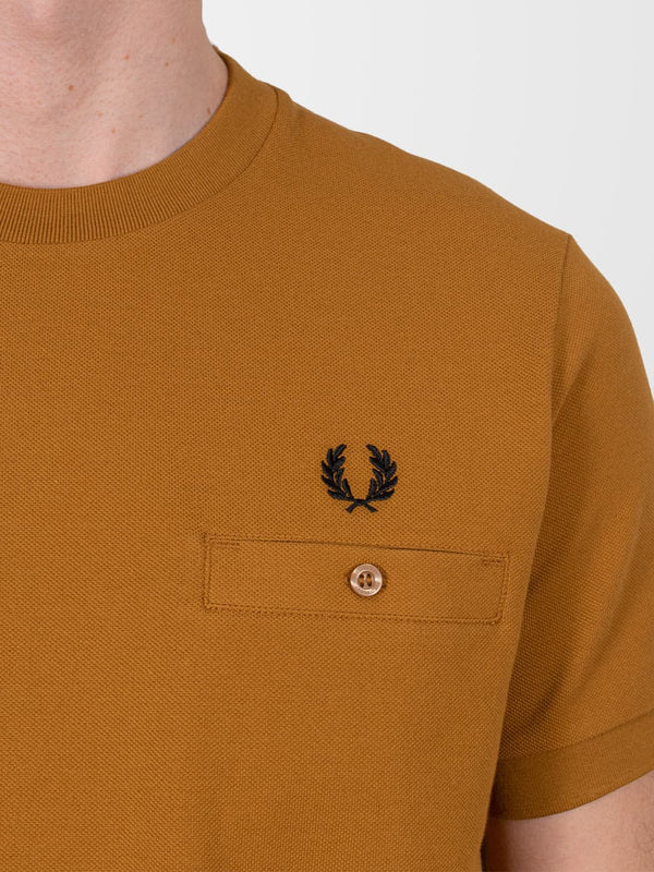 FRED PERRY Pocket Detail Piqué T-Shirt
