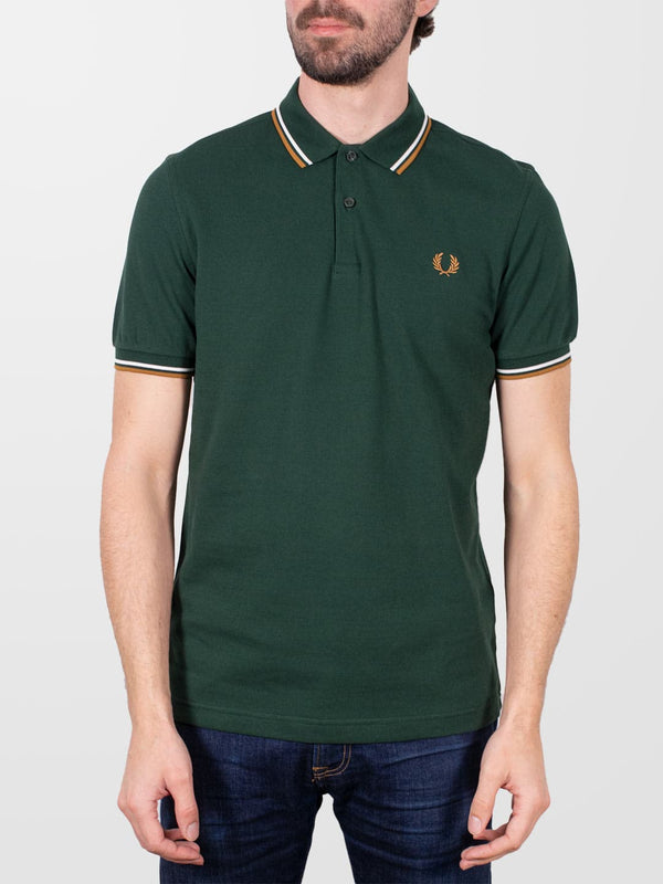 FRED PERRY Evergreen Twin Tipped SS Polo Shirt