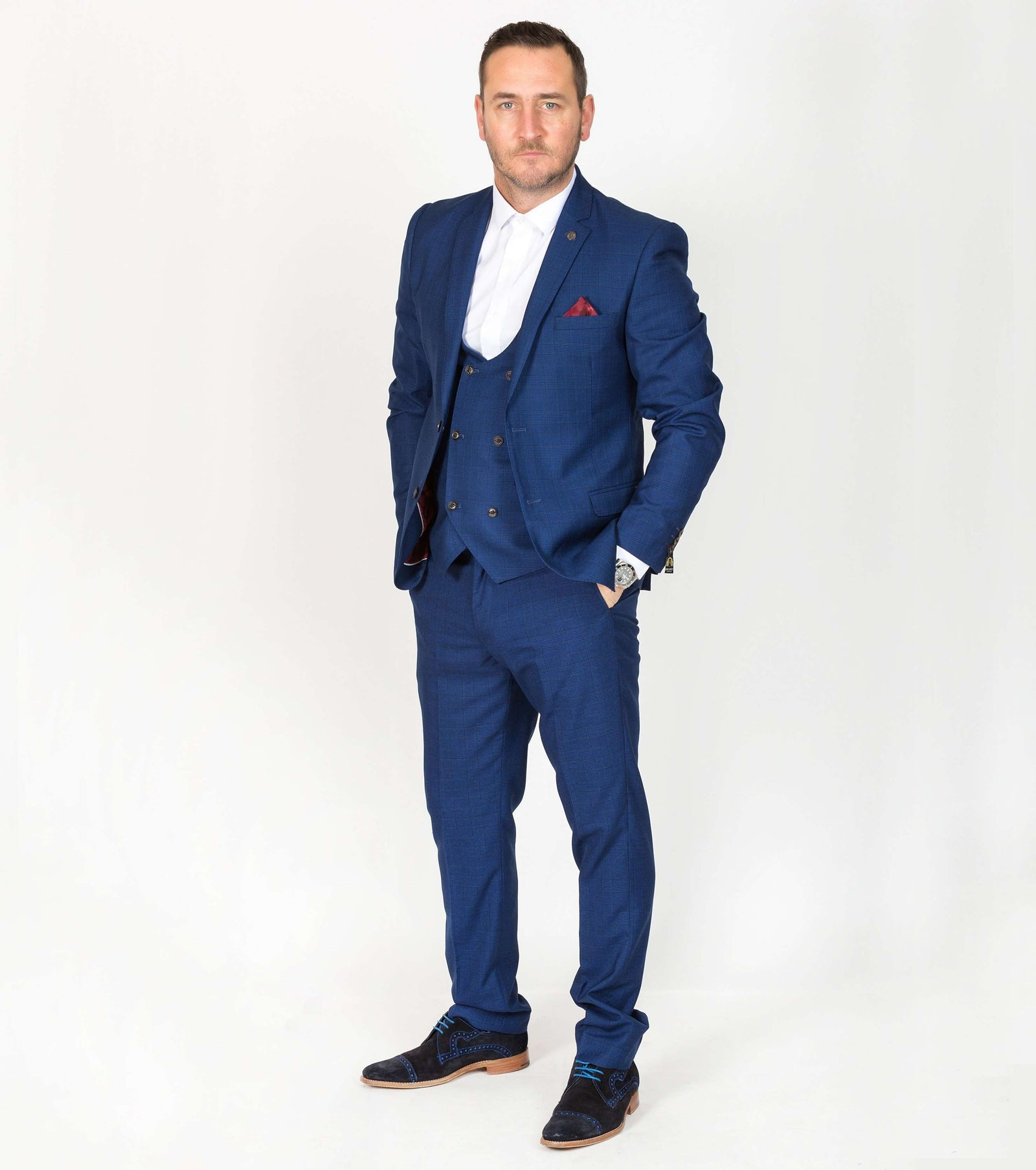 MARC DARCY George 3 Piece Suit - Revolver Menswear Bawtry
