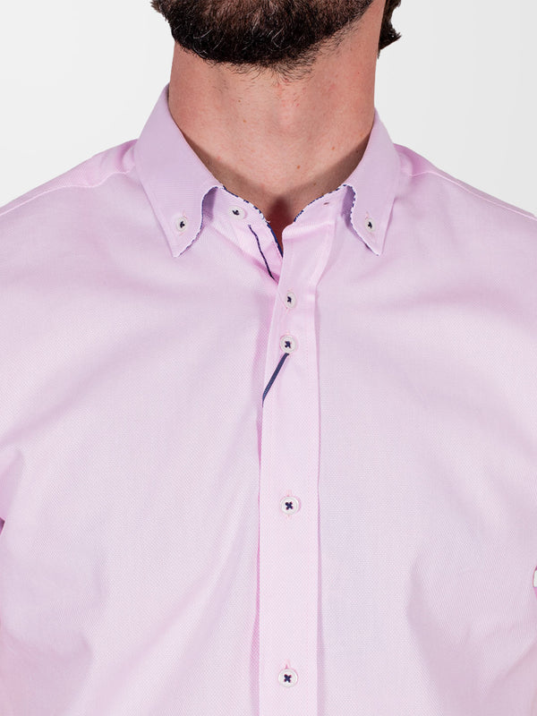 GUIDE LONDON Pink Plain HS Shirt