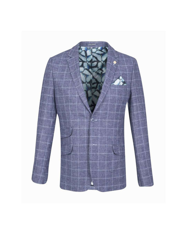 GUIDE LONDON Double Check Linen Blazer - Revolver Menswear Bawtry