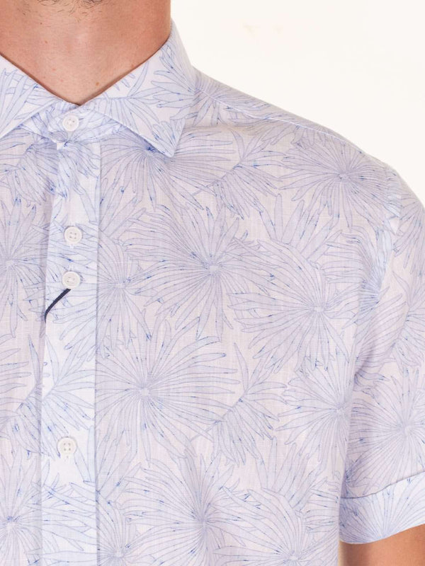 GUIDE LONDON Soft Flower Print SS Shirt
