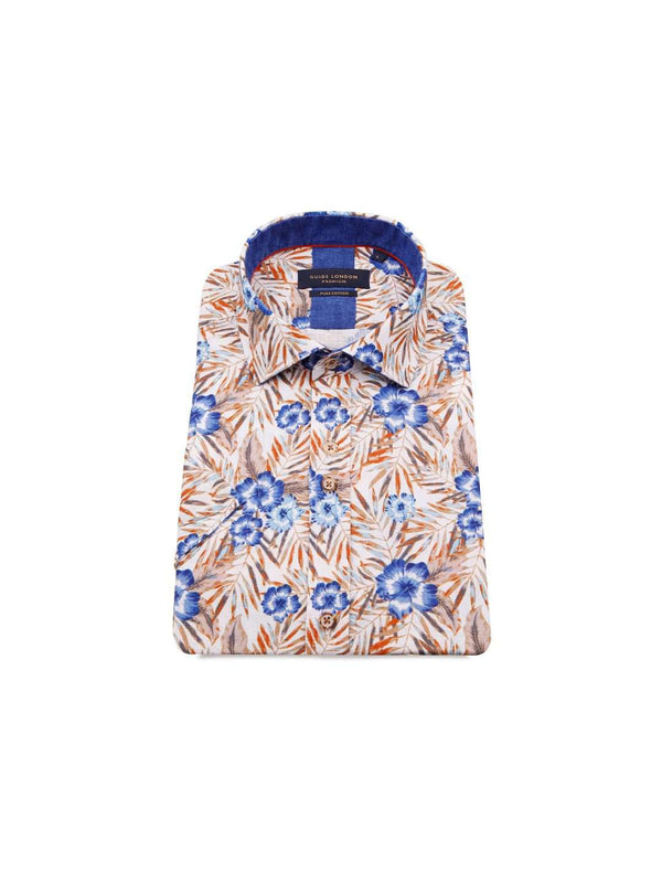 GUIDE LONDON Vibrant Floral Print SS Shirt