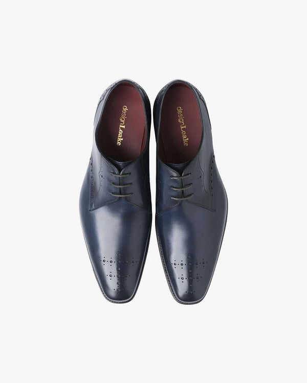 LOAKE Hannibal Navy Leather Shoes - Revolver Menswear Bawtry