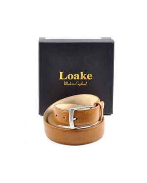 Loake Tan Leather Henry Belt