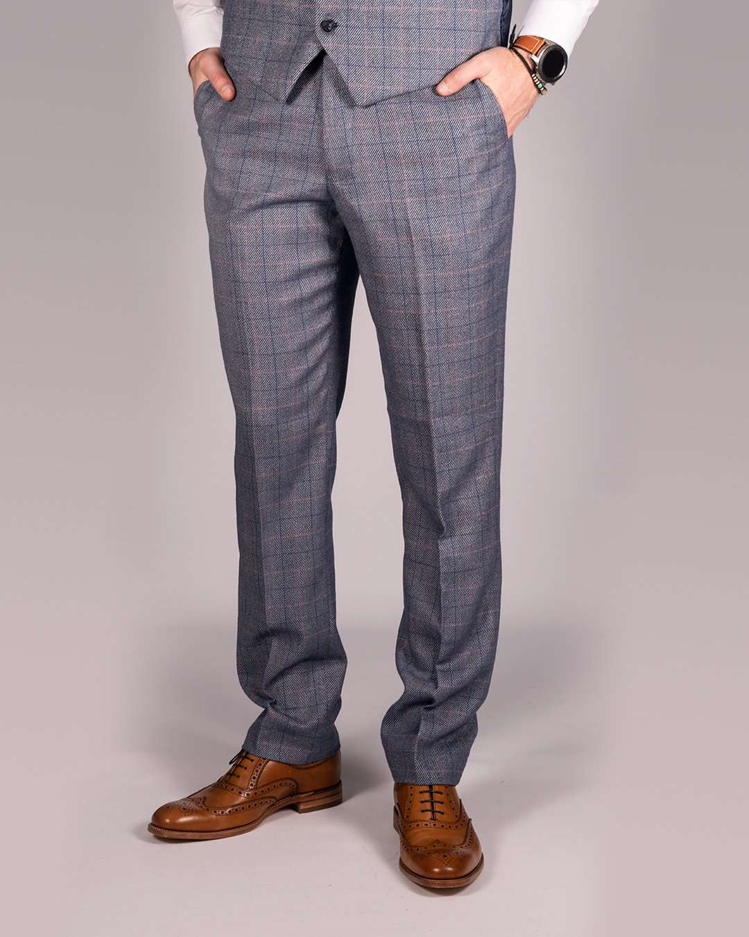 MARC DARCY Hilton Tweed Check Trousers - Revolver Menswear Bawtry