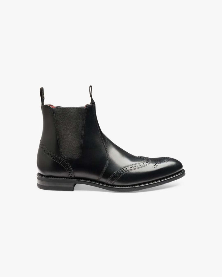 Loake Hoskins Black Leather Boots