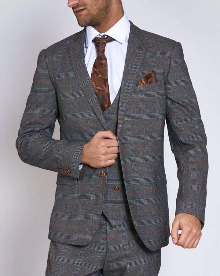 Marc Darcy Jenson Grey Tan Blazer