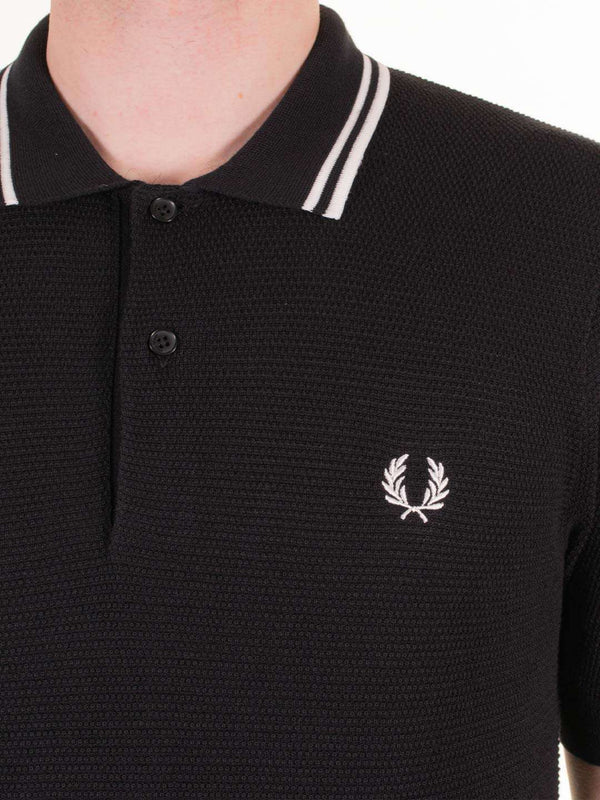 FRED PERRY Textured Knitted SS Polo - Revolver Menswear Bawtry