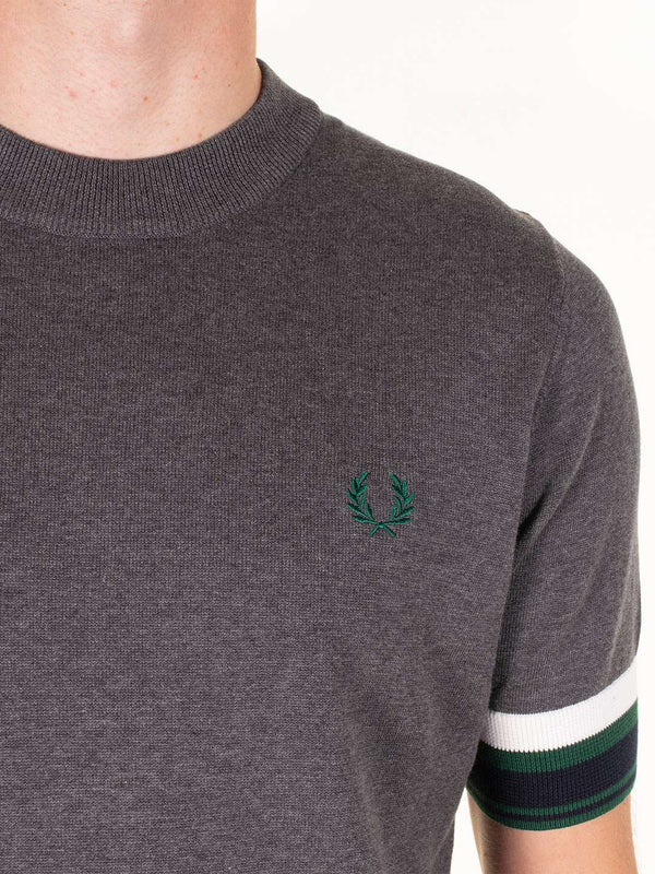 FRED PERRY Bold Buff Knitted T-Shirt