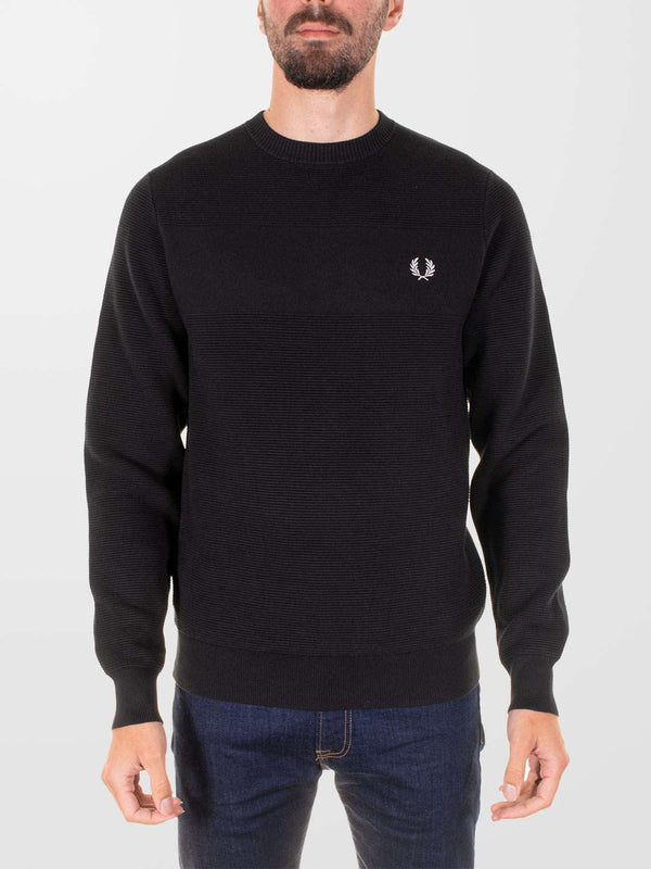 FRED PERRY Textured Stripe Jumper