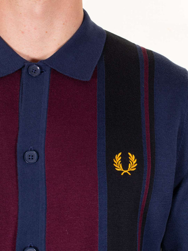 FRED PERRY Colour Block Knitted Shirt