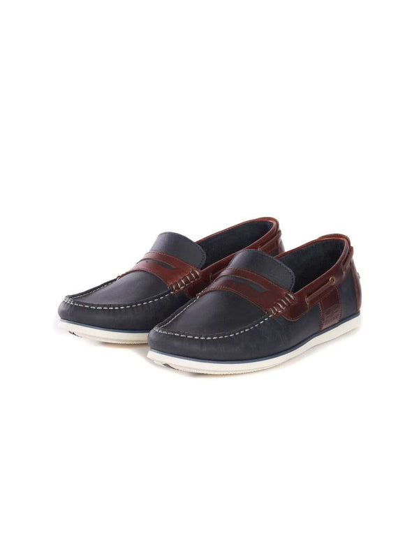 BARBOUR FOOTWEAR Navy Keel Boat Shoes