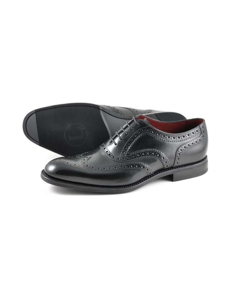 Loake Kerridge Black Oxford Spider Brogue