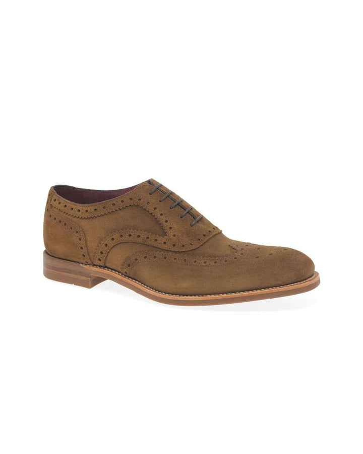 Loake Kerridge Tan Suede Oxford Wing Tip Brogue