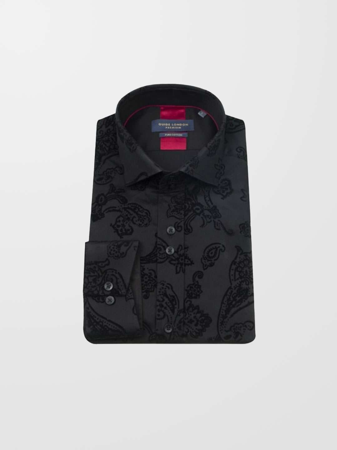 GUIDE LONDON Flocked Print LS Shirt