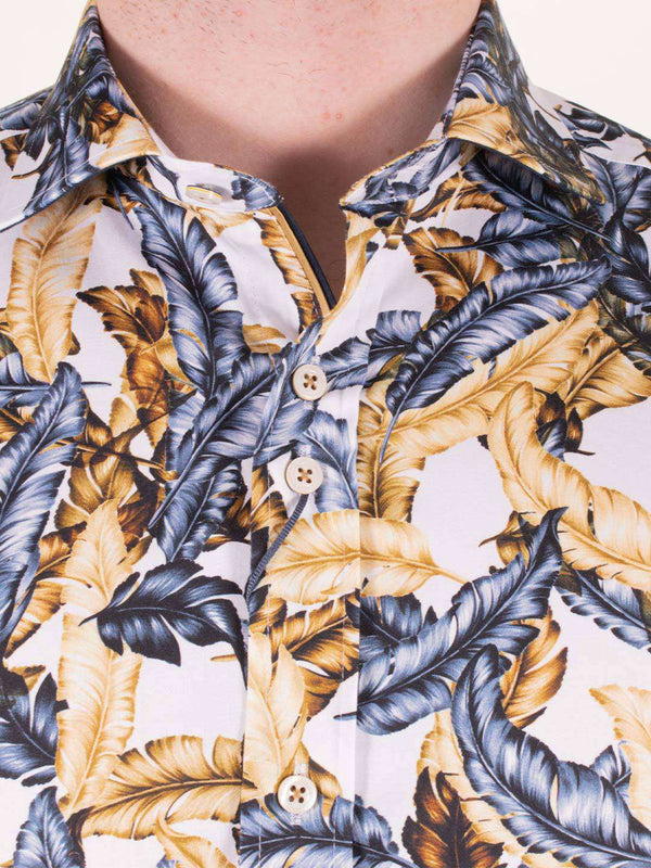 GUIDE LONDON Feathers Print LS Shirt - Revolver Menswear Bawtry