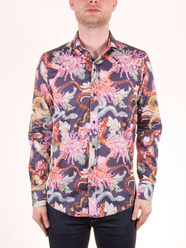 GUIDE LONDON Reptile and Plant LS Shirt - Revolver Menswear Bawtry