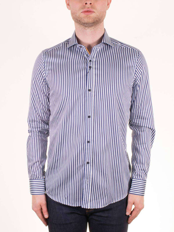 GUIDE LONDON Vertical Stripe LS Shirt - Revolver Menswear Bawtry