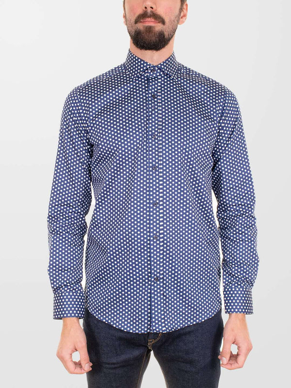 GUIDE LONDON Polka Dot LS Shirt