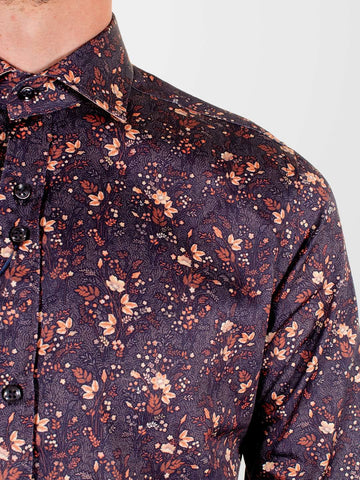 GUIDE LONDON Autumn Leaf LS Shirt