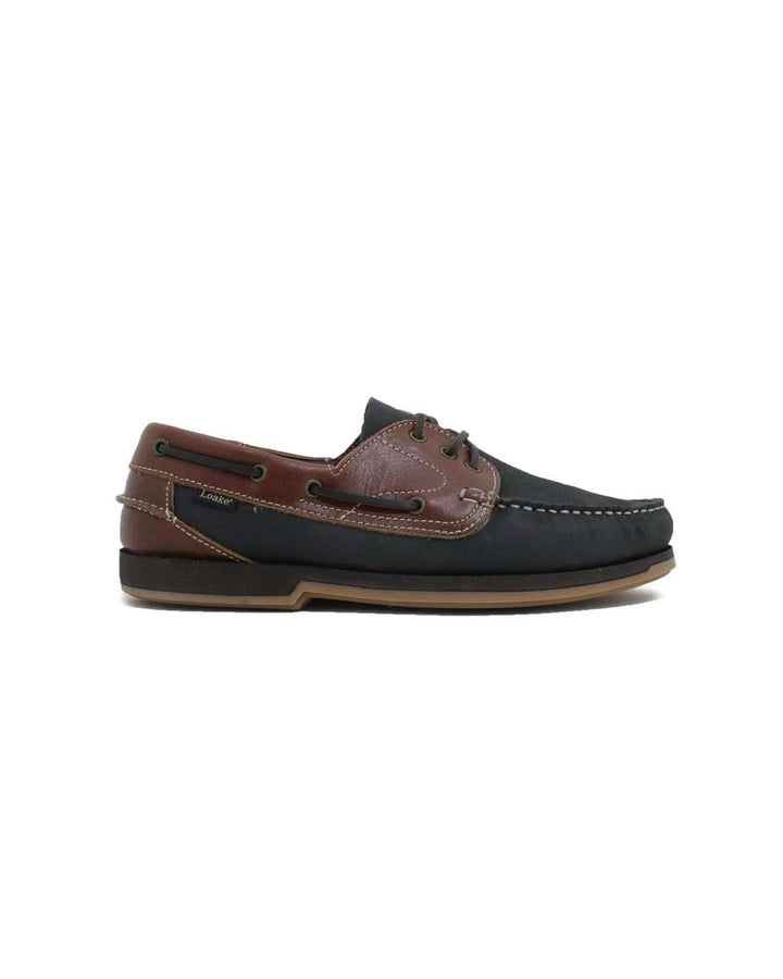 Loake 521 N2 Navy/Brown Deck Shoe