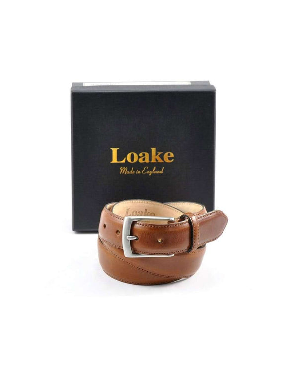 LOAKE Henry Leather Belt - Revolver Menswear Bawtry