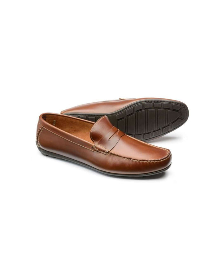 Loake Goodwood Brown Waxy Leather Moccasin