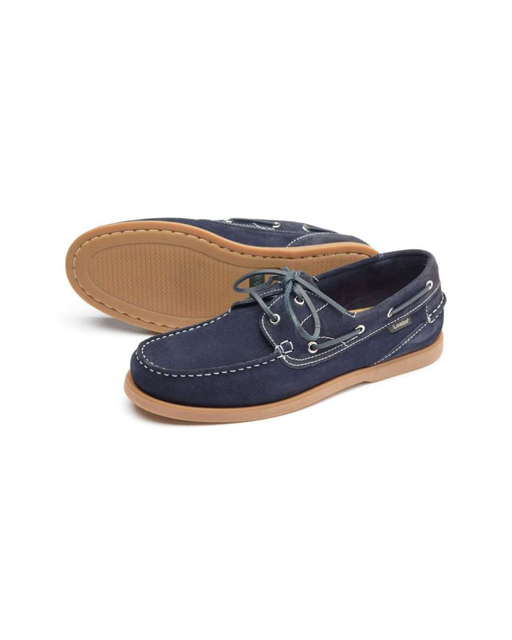 Loake Lymington Navy Boat Shoe