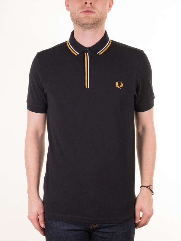 FRED PERRY Tipped Placket SS Polo Shirt - Revolver Menswear Bawtry