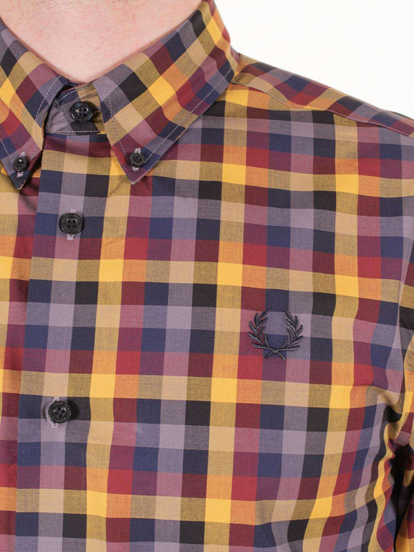 FRED PERRY 5 Colour Gingham LS Shirt - Revolver Menswear Bawtry