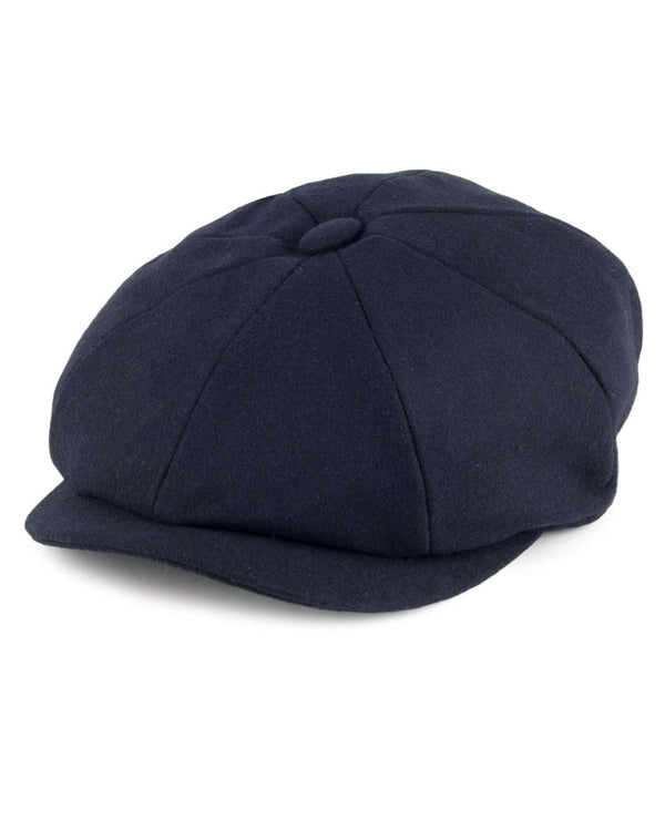 Failsworth Navy Alfie Melton Newsboy Cap - Revolver Menswear Bawtry