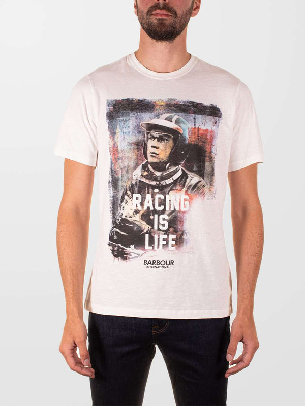 BARBOUR INTL. Racing Is Life T-Shirt