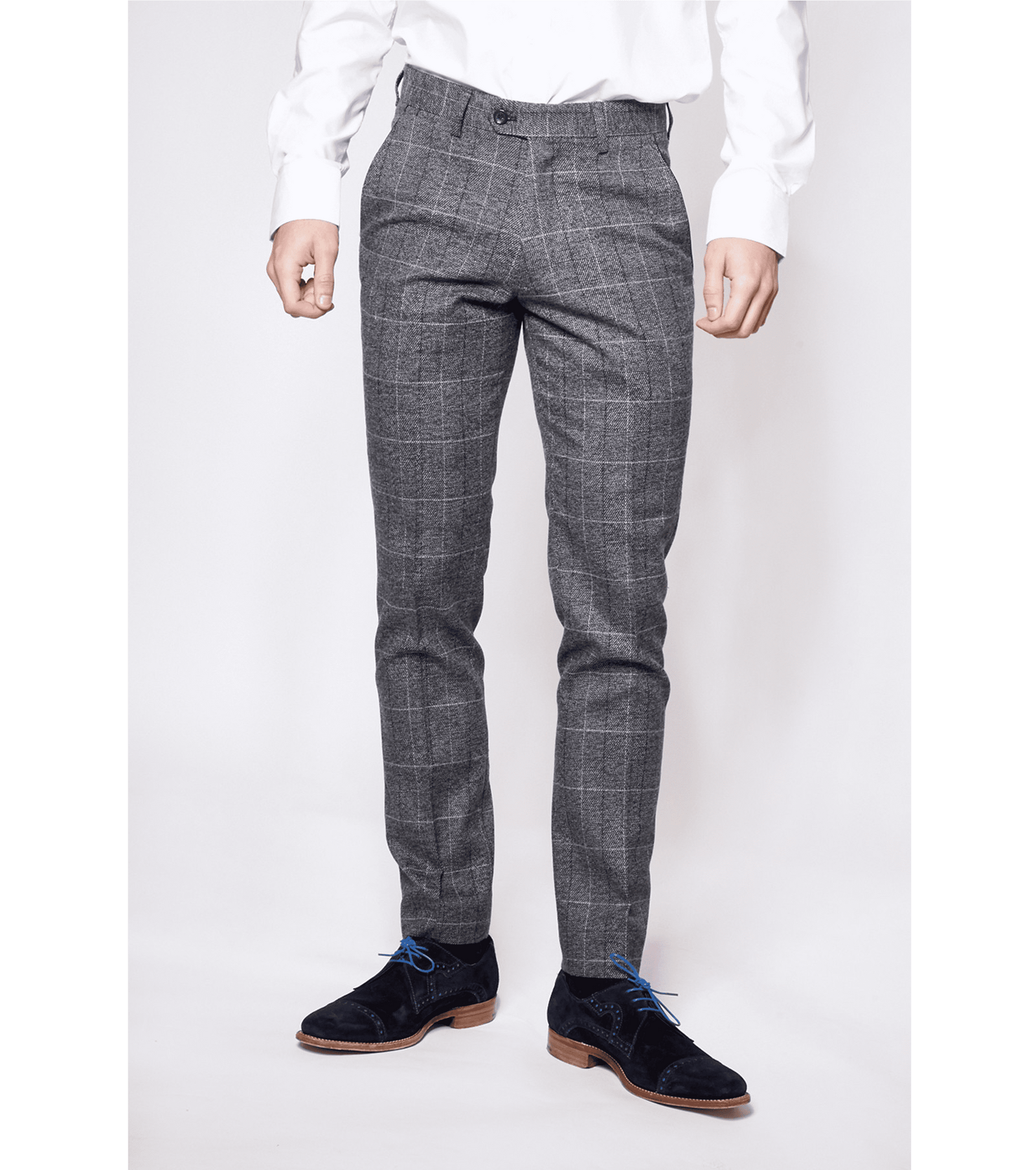MARC DARCY Scott Check Tweed Trousers - Revolver Menswear Bawtry
