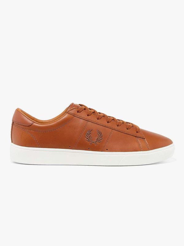 FRED PERRY Tan Spencer Waxed Trainers - Revolver Menswear Bawtry