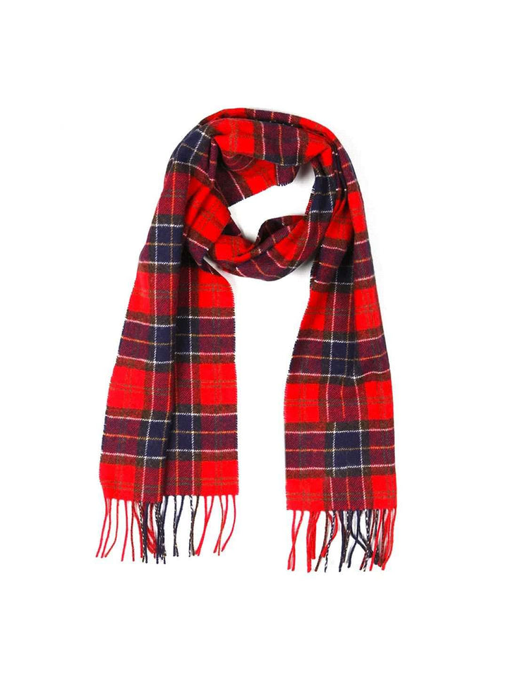 BARBOUR Lambs Wool Tartan Scarf