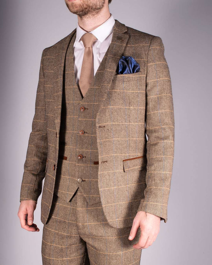 Marc Darcy Ted Heritage Tweed Check Blazer