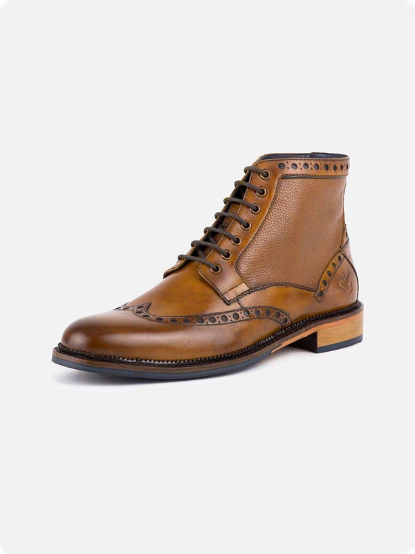 GOODWIN SMITH Walton Brogue Boot - Revolver Menswear Bawtry