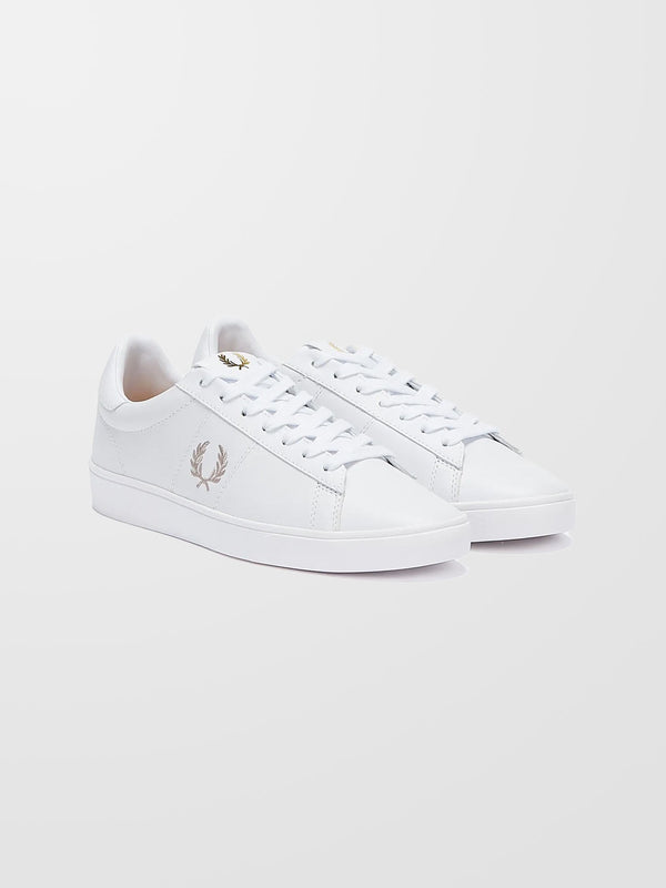FRED PERRY White Spencer Leather Trainers