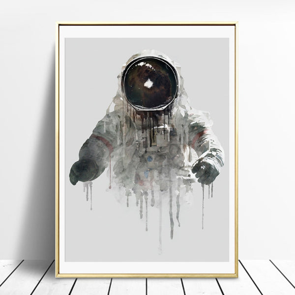 Watercolor Astronaut Painting