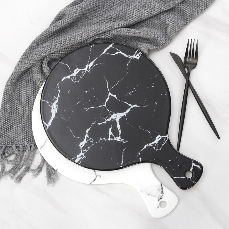 Marble Pizza Plate