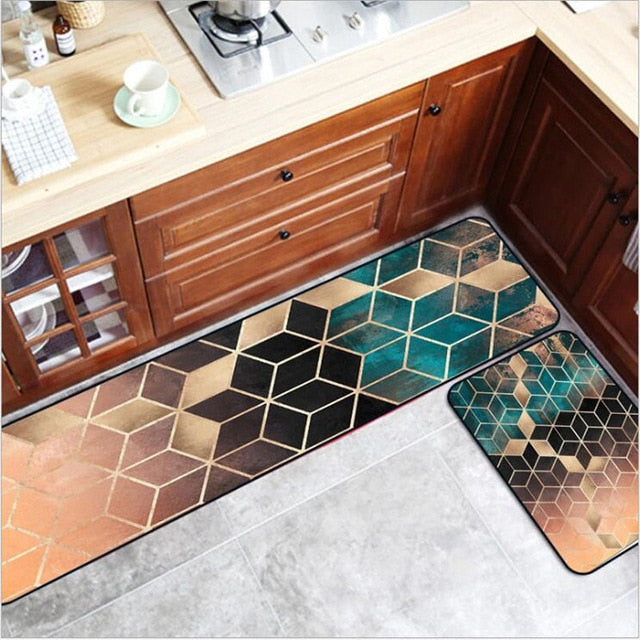 Geometric Golden Rug Set