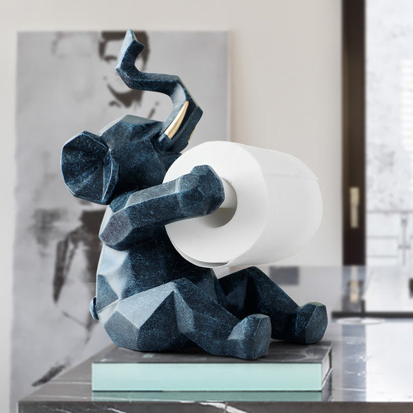 The Geometric Elephant Roll Paper Holder
