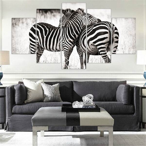 Mordern Canvas Painting Zebra