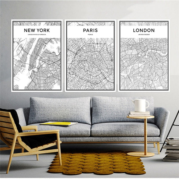 Black&White City Map