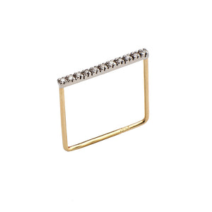 Line Diamonds Square Rings