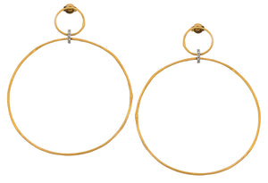 Golden Diamond Hoops