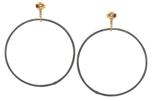 Oxidized Hoops on Diamond Line